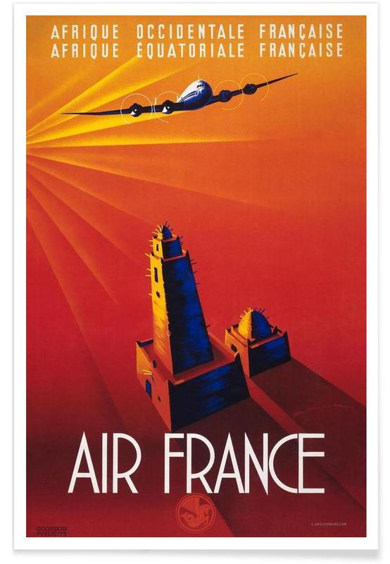 Air France to Africa Poster