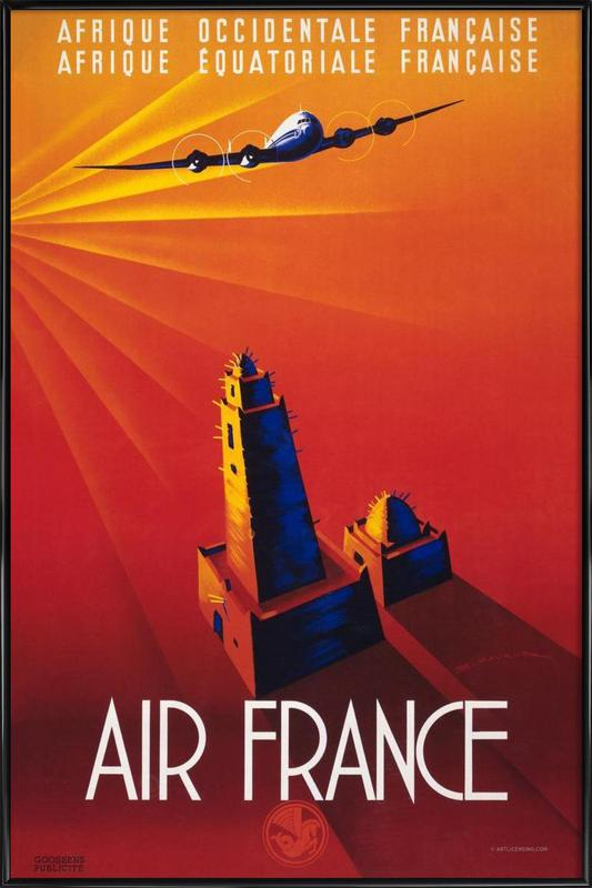 Air France to Africa Framed Poster