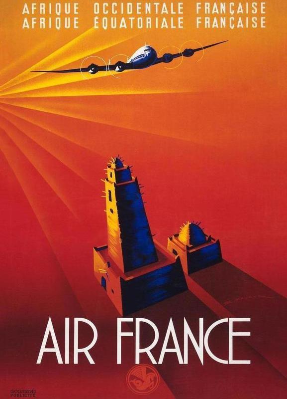 Air France to Africa -Leinwandbild