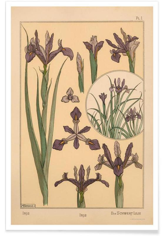 Eugene Grasset - Iris 01 affiche