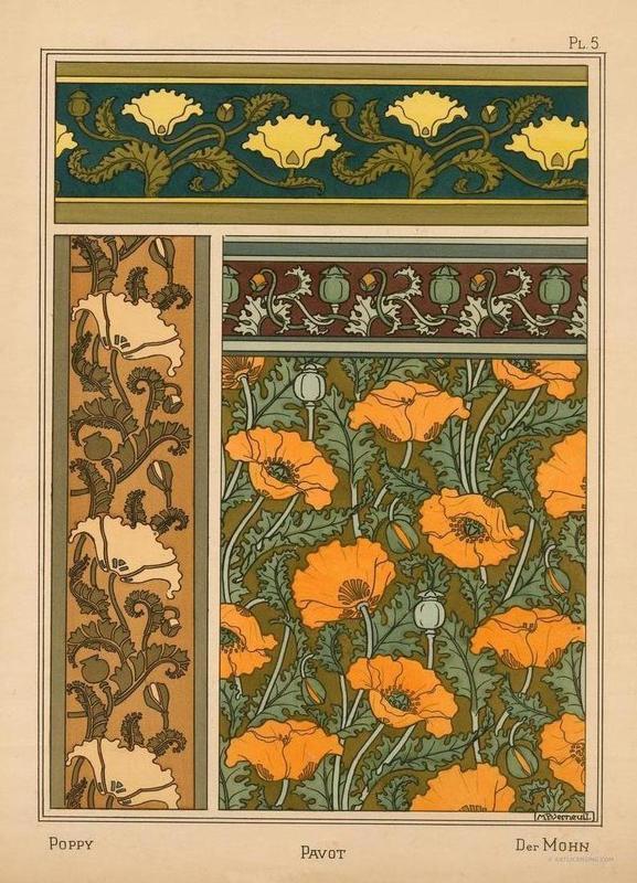 Eugene Grasset - Poppy 05 toile