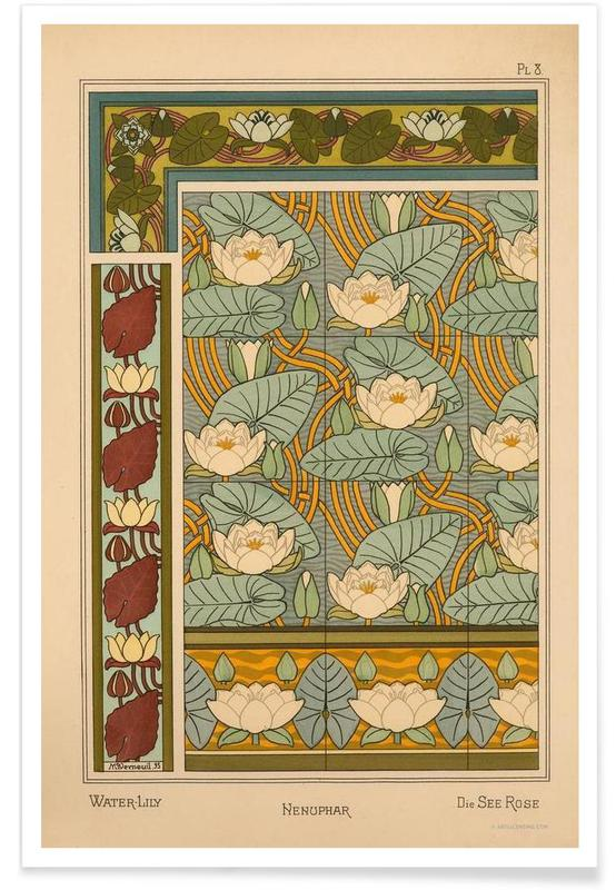 Eugene Grasset - Water-Lily 08 Poster