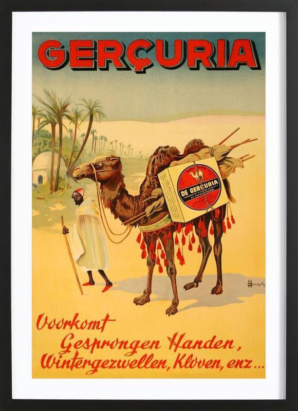 Gercuria Creams affiche sous cadre en bois