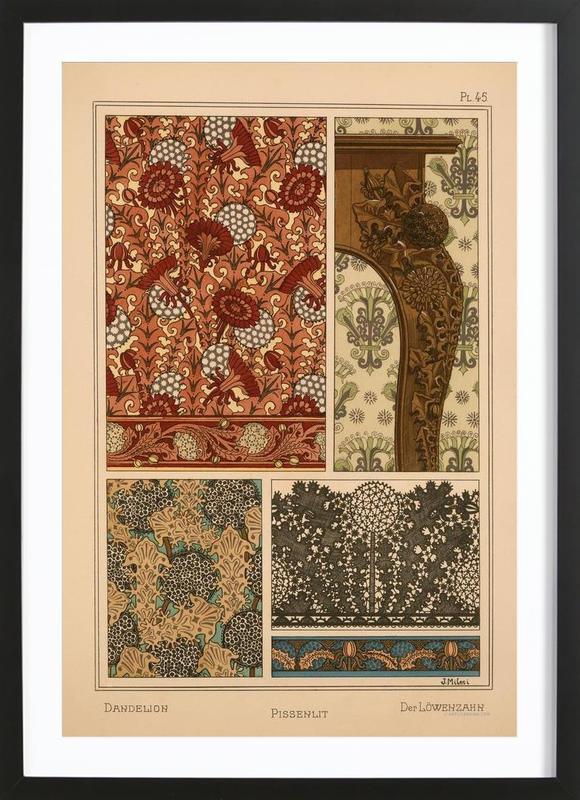 Eugene Grasset - Dandelion 45 Framed Print