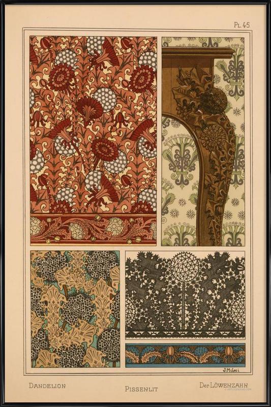 Eugene Grasset - Dandelion 45 Framed Poster
