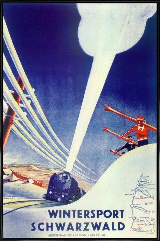 Ski 10 Framed Poster