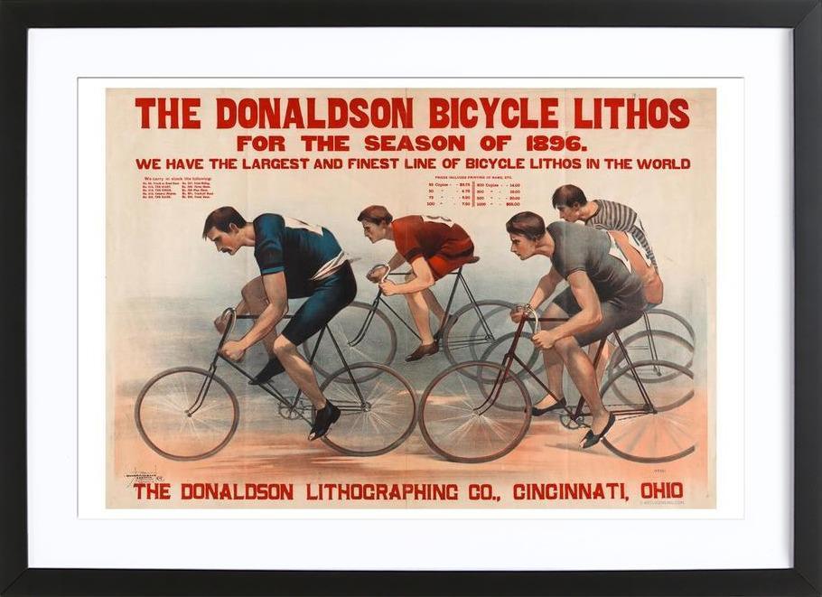Donaldson Bicycle ingelijste print