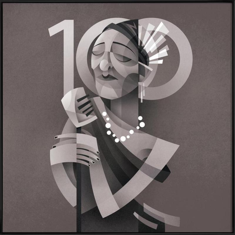 Lady Day -Bild mit Kunststoffrahmen