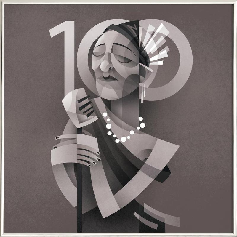 Lady Day -Poster im Alurahmen
