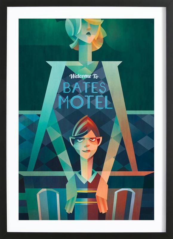 Bates Motel -Bild mit Holzrahmen