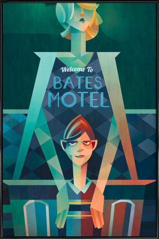 Bates Motel -Bild mit Kunststoffrahmen