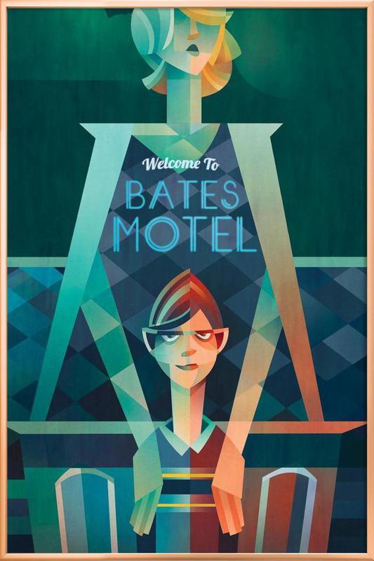 Bates Motel -Poster im Alurahmen