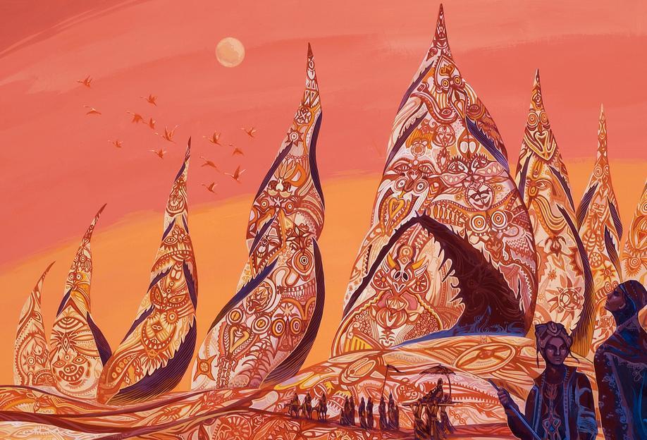 Bedouin Towers Aluminium Print