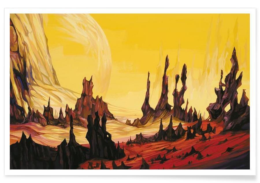 Abstrakte Landschaften, Wüsten, Red Desert -Poster
