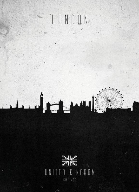 London Contemporary Cityscape Canvas Print