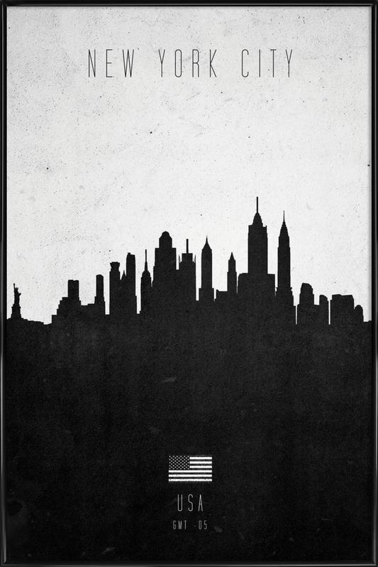 New York City Contemporary Cityscape Framed Poster