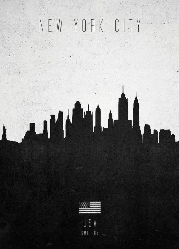New York City Contemporary Cityscape -Leinwandbild