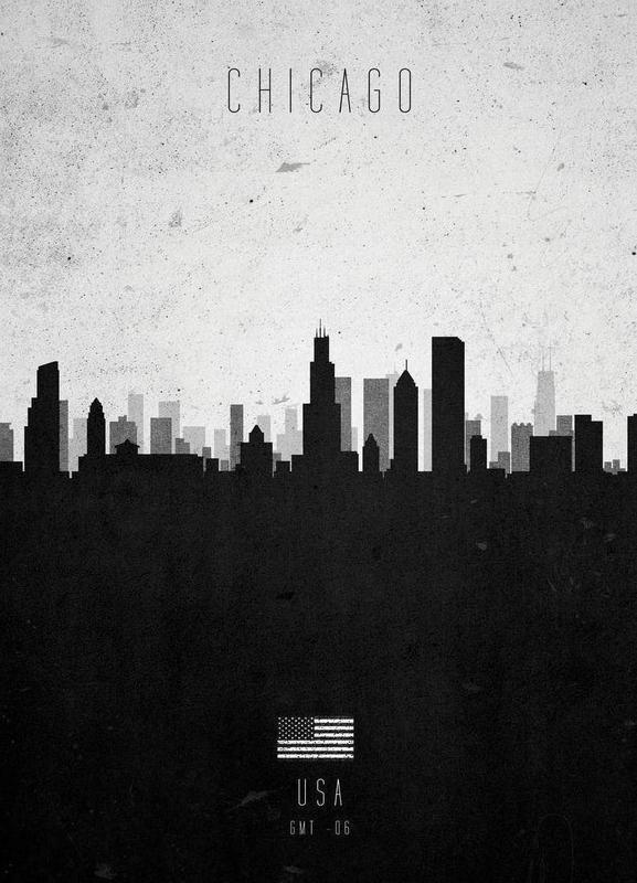 Chicago Contemporary Cityscape -Leinwandbild
