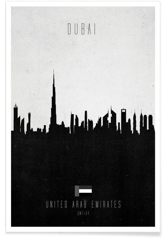 Dubai Contemporary Cityscape affiche