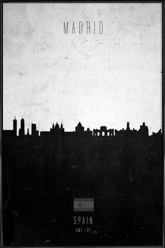 Madrid Contemporary Cityscape Framed Poster