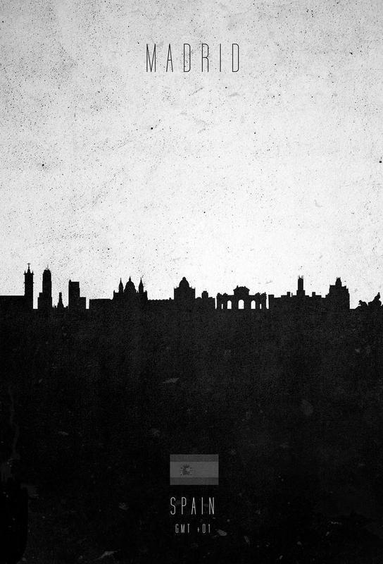 Madrid Contemporary Cityscape -Acrylglasbild