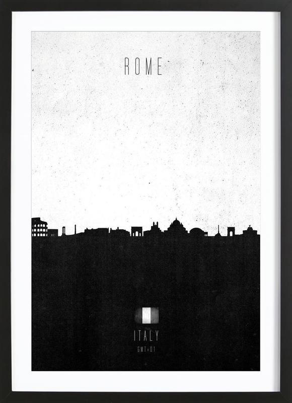 Rome Contemporary Cityscape Framed Print
