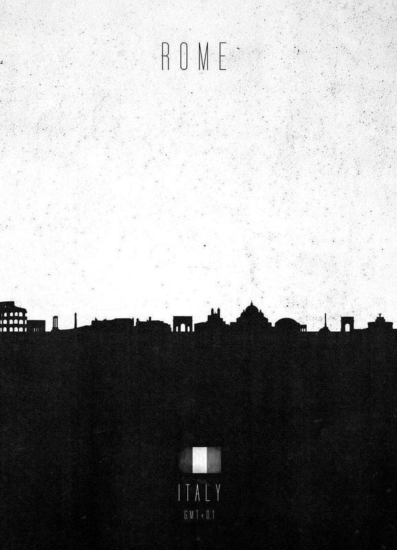 Rome Contemporary Cityscape -Leinwandbild
