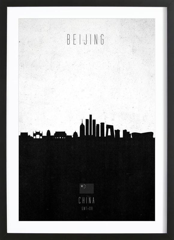 Beijing Contemporary Cityscape -Bild mit Holzrahmen