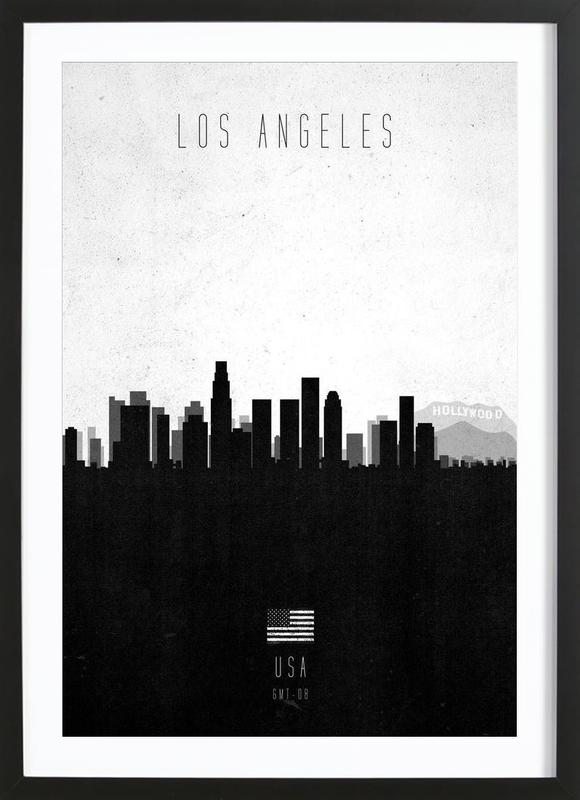 Los Angeles Contemporary Cityscape Framed Print