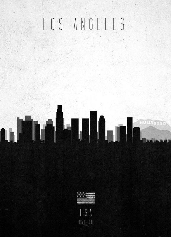 Los Angeles Contemporary Cityscape canvas doek