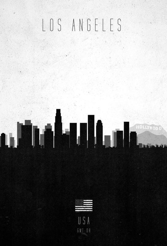 Los Angeles Contemporary Cityscape Acrylic Print