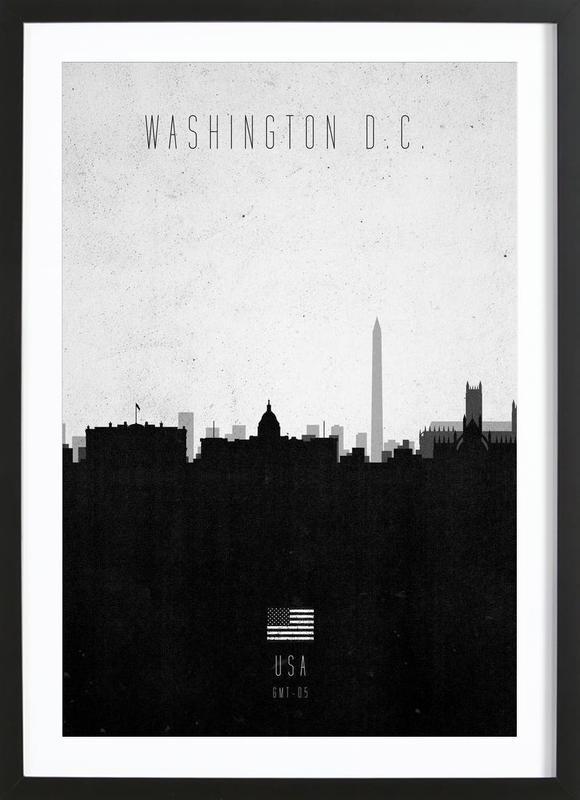 Washington DC Contemporary Cityscape Framed Print