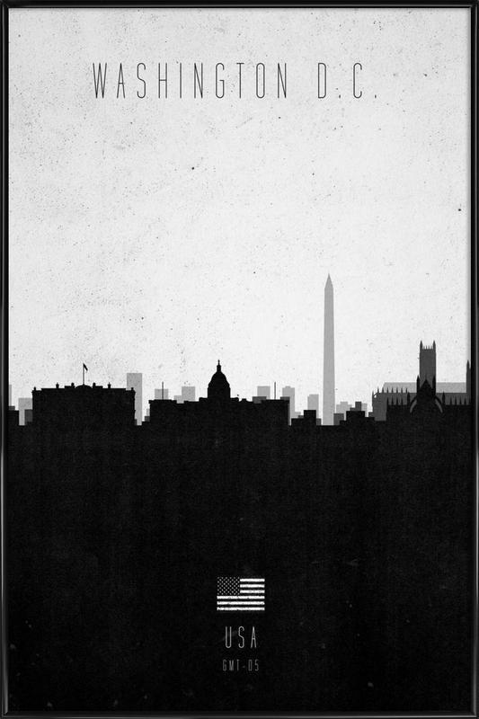Washington DC Contemporary Cityscape Framed Poster