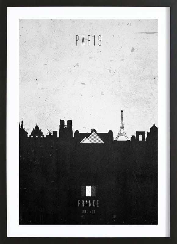 Paris Contemporary Cityscape Framed Print