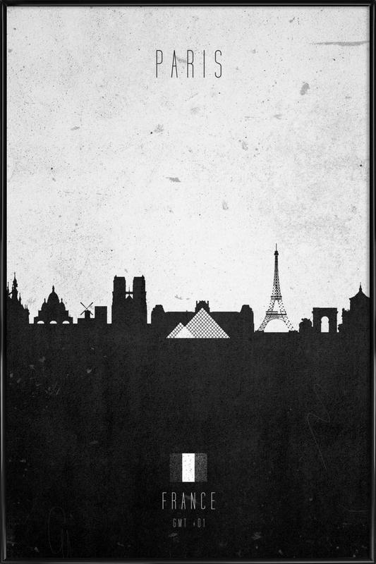 Paris Contemporary Cityscape Framed Poster