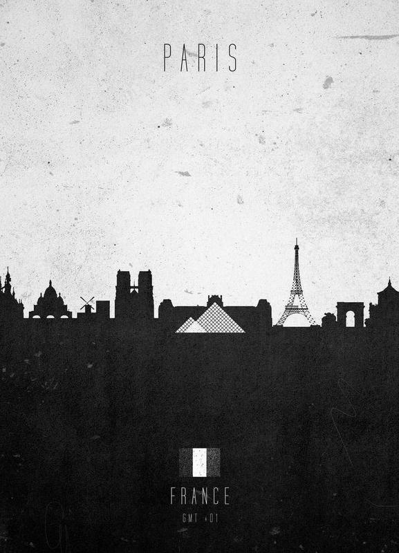 Paris Contemporary Cityscape Canvas Print