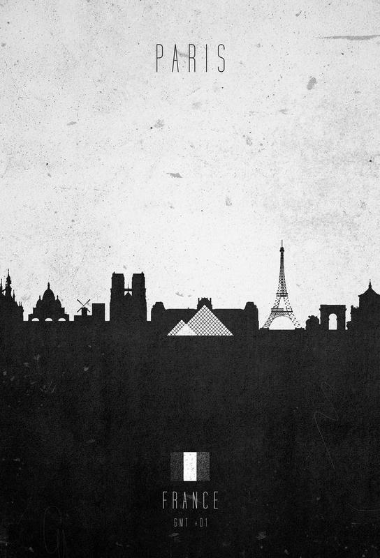 Paris Contemporary Cityscape Aluminium Print