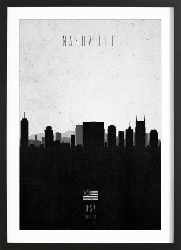 Nashville Contemporary Cityscape ingelijste print