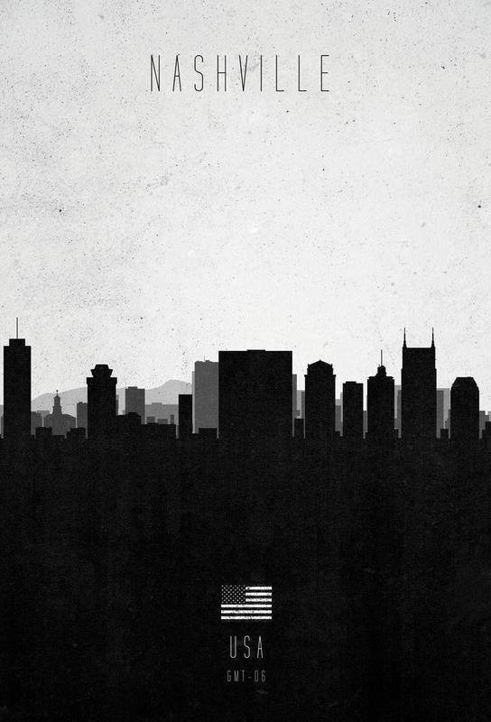Nashville Contemporary Cityscape Acrylic Print