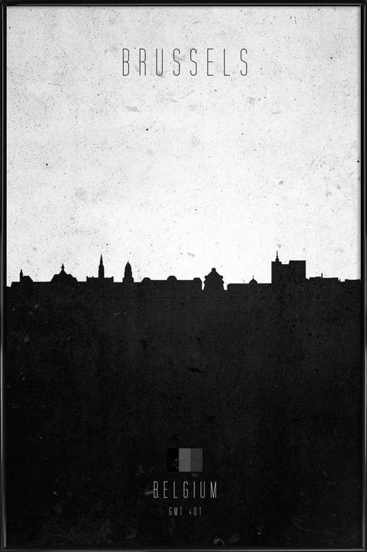 Brussels Contemporary Cityscape ingelijste poster