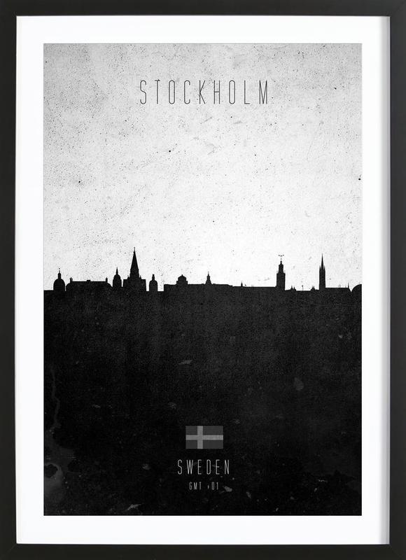 Stockholm Contemporary Cityscape Framed Print
