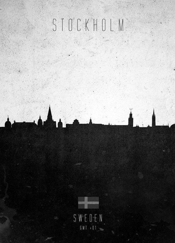 Stockholm Contemporary Cityscape Canvas Print