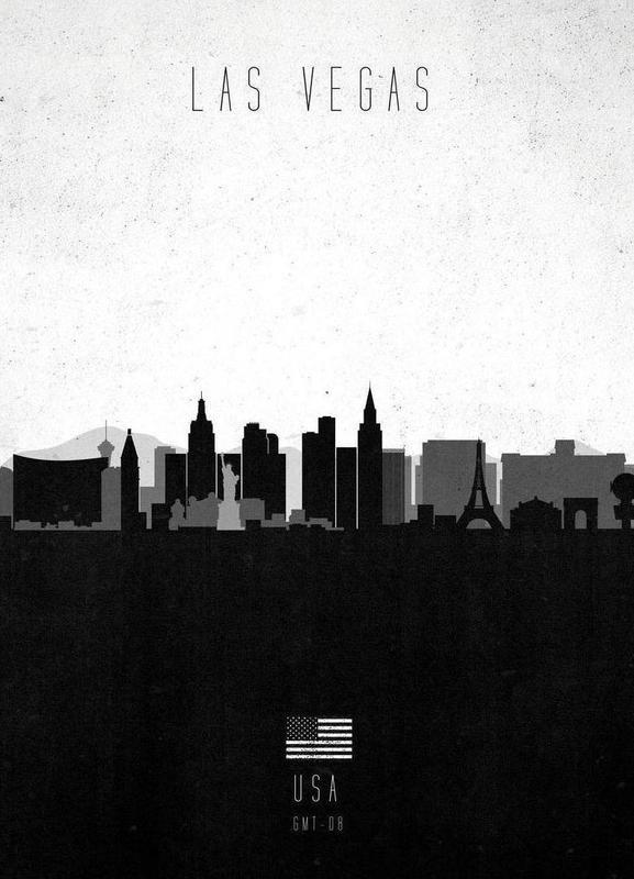 Las Vegas Contemporary Cityscape Canvas Print