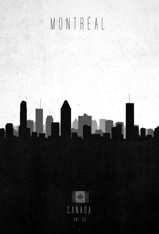 Montreal Contemporary Cityscape Acrylic Print