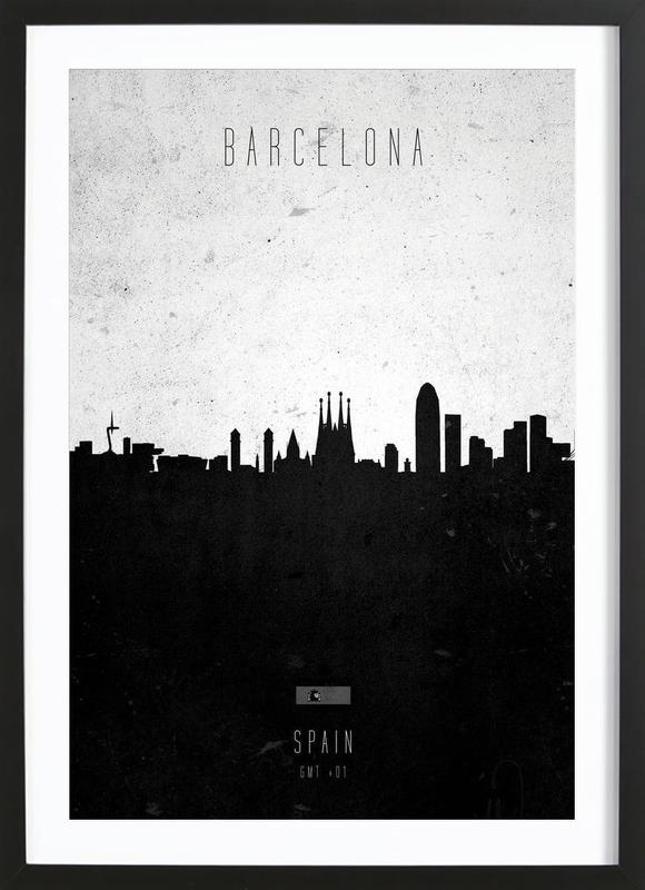 Barcelona Contemporary Cityscape ingelijste print
