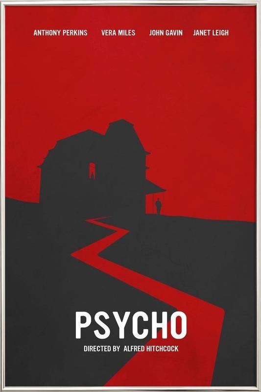 Psycho Poster in Aluminium Frame