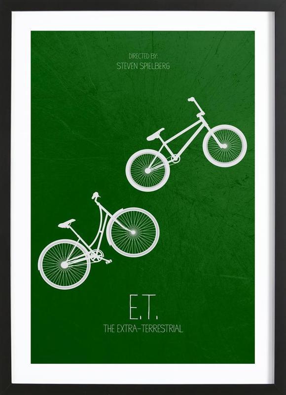 E.T. -Bild mit Holzrahmen