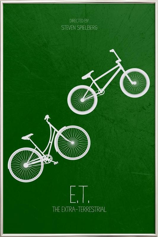E.T. -Poster im Alurahmen