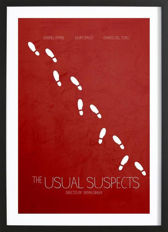 The Usual Suspects -Bild mit Holzrahmen