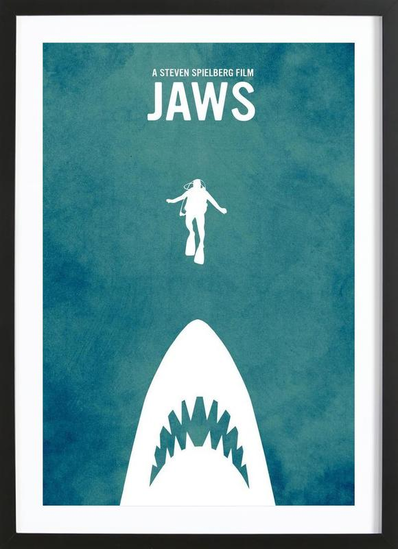Jaws Inspired ingelijste print